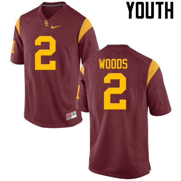 Youth #2 Robert Woods USC Trojans College Football Jerseys-Red